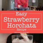 Easy Strawberry Horchata Recipe | Fresh Strawberry Milk Drink | Aguas Frescas Recipe