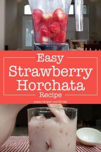 Easy Strawberry Horchata Recipe - Fresh Strawberry Milk Drink
