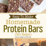 Easy To Make Homemade Protein Bars (No Bake)