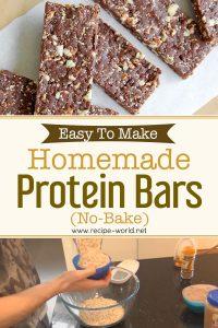 Easy To Make Homemade Protein Bars ( No Bake)