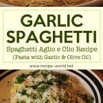 Garlic Spaghetti – Spaghetti Aglio e Olio Recipe – Pasta with Garlic and Olive Oil