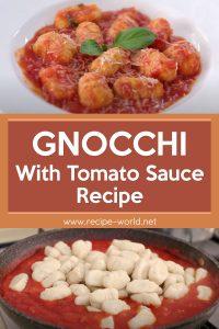 Gnocchi With Tomato Sauce Recipe - How To Make Gnocchi