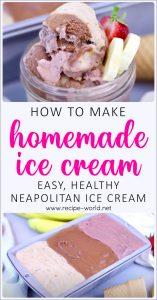 Homemade Ice Cream Recipe - Easy, Healthy Neapolitan Ice Cream