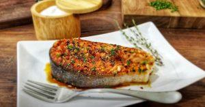Honey Garlic Salmon Steaks - Salmon Recipe