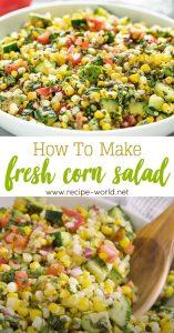 How To Make Fresh Corn Salad
