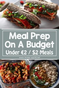 Meal Prep On A Budget - Under €2 Or $2 Meals