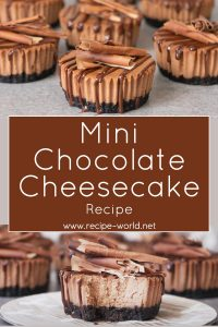 Mini Chocolate Cheesecakes Recipe