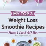 My Top 3 Weight Loss Smoothie Recipes | How I Lost 40 Lbs