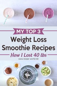 My Top 3 Weight Loss Smoothie Recipes - How I Lost 40 Lbs