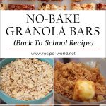 No-Bake Granola Bars (Back To School Recipe)
