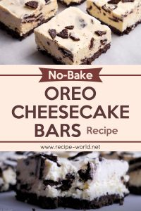 No Bake Oreo Cheesecake Bars