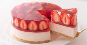 No-Bake Strawberry Cheesecake - Eggless & Without Oven