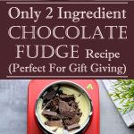 Only 2 Ingredient Chocolate Fudge Recipe (Perfect for gift giving)