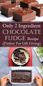 Only 2 Ingredient Chocolate Fudge Recipe