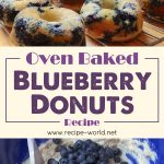 Oven-Baked Blueberry Donuts