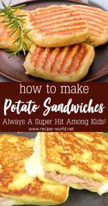 Potato Sandwiches - Always A Super Hit Among Kids!