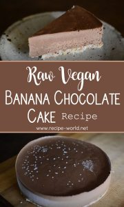Raw Vegan Banana Chocolate Cake