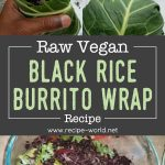 Raw Vegan Black Rice Burrito Wrap