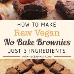 Raw Vegan No-Bake Brownies – Just 3 Ingredients