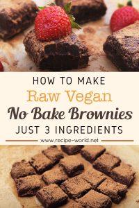 Raw Vegan No Bake Brownies - Just 3 Ingredients
