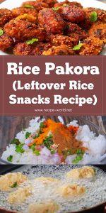 Rice Pakora - Leftover Rice Snacks - Easy Snacks Recipe