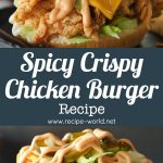Spicy Crispy Chicken Burger Recipe By Food Fusion