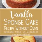 Sponge Cake In Blender | Vanilla Sponge Cake Recipe Without Oven