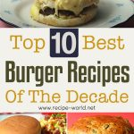 Top 10 Best Burger Recipes Of The Decade
