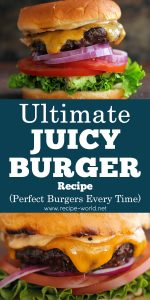 Ultimate Juicy Burger Recipe - Perfect Burgers Every Time