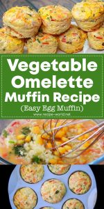 Vegetable Omelette Muffin Recipe