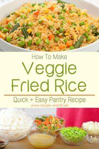 Veggie Fried Rice - Quick + Easy Pantry Recipe