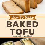 Baked Tofu (Tofu Lin) Recipe