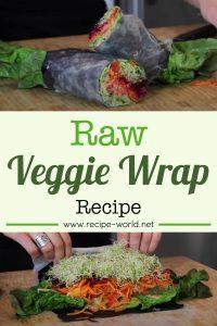 Raw Veggie Wrap Recipe